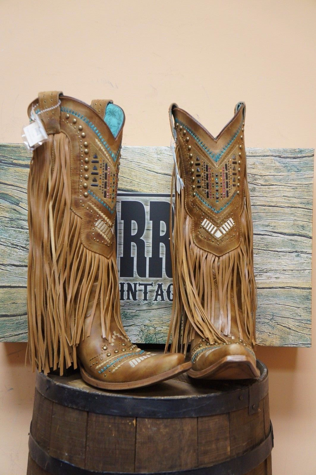 88c8913fff Women's Corral Boot with Multicolor Crystal Pattern Fringe New Style C2910  | eBay Cowgirlart, Cowgirl