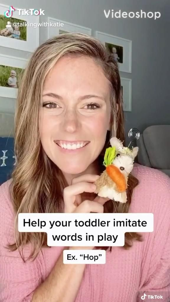 """Help your toddler repeat words in play! Instead if adding pressure by saying """"Say __"""" or witholding objects, model then INVITE them to join by handing them the object! Speech and language tips. Tips to get your toddler talking. #toddlerlife #toddleractivity #toddlerlearningactivities #firsttimemom #babyactivity"""