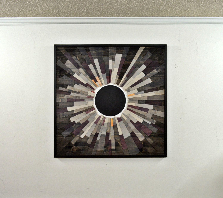 wood wall art GREY MATTER an Eclipse  36X36