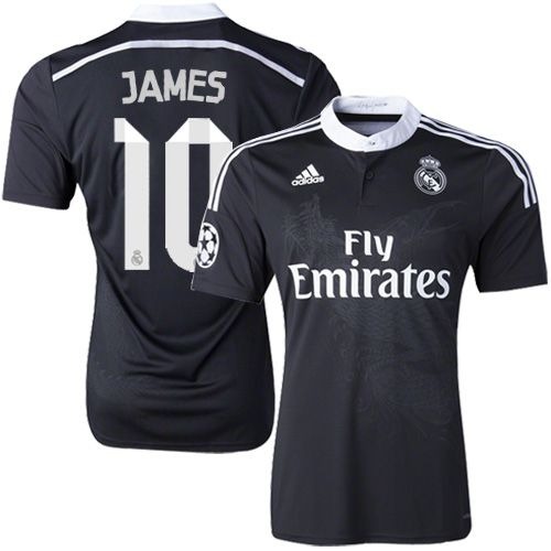 Adidas James Rodriguez Real Madrid CF Jersey - Replica Men s  10 Short Shirt  14 15 Spain Futbol Club Jersey Black Third Soccer 977fc368b