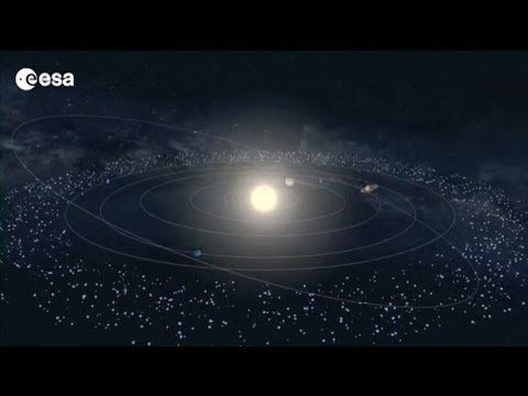 Rosetta -- the story so far - YouTube European Space Agency, ESA  Rosetta's journey through the Solar System. ESA's Rosetta  launched March 2004-has since been chasing comet 67P/Churyumov-Gerasimenko,1st space mission to orbit a comet, 1st to attempt a landing on a comet's surface, 1st to follow a comet as it swings around the Sun. Operating on solar energy alone,nearly 800 million kilometres from the Sun, close to the orbit of Jupiter.Credits: ESA