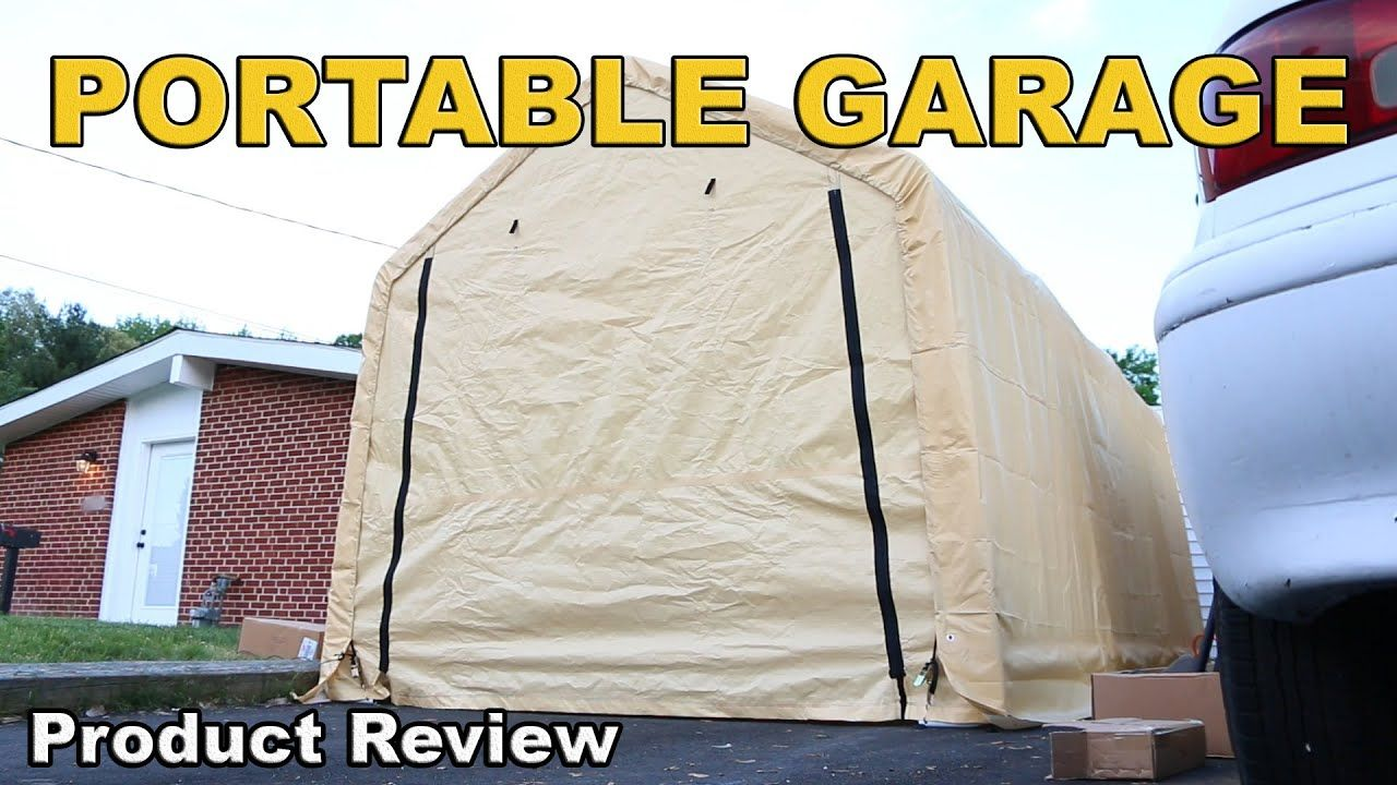 Harbor Freight Portable Garage Review 10 X 17 Youtube Portable Garage Carport Sheds Garage