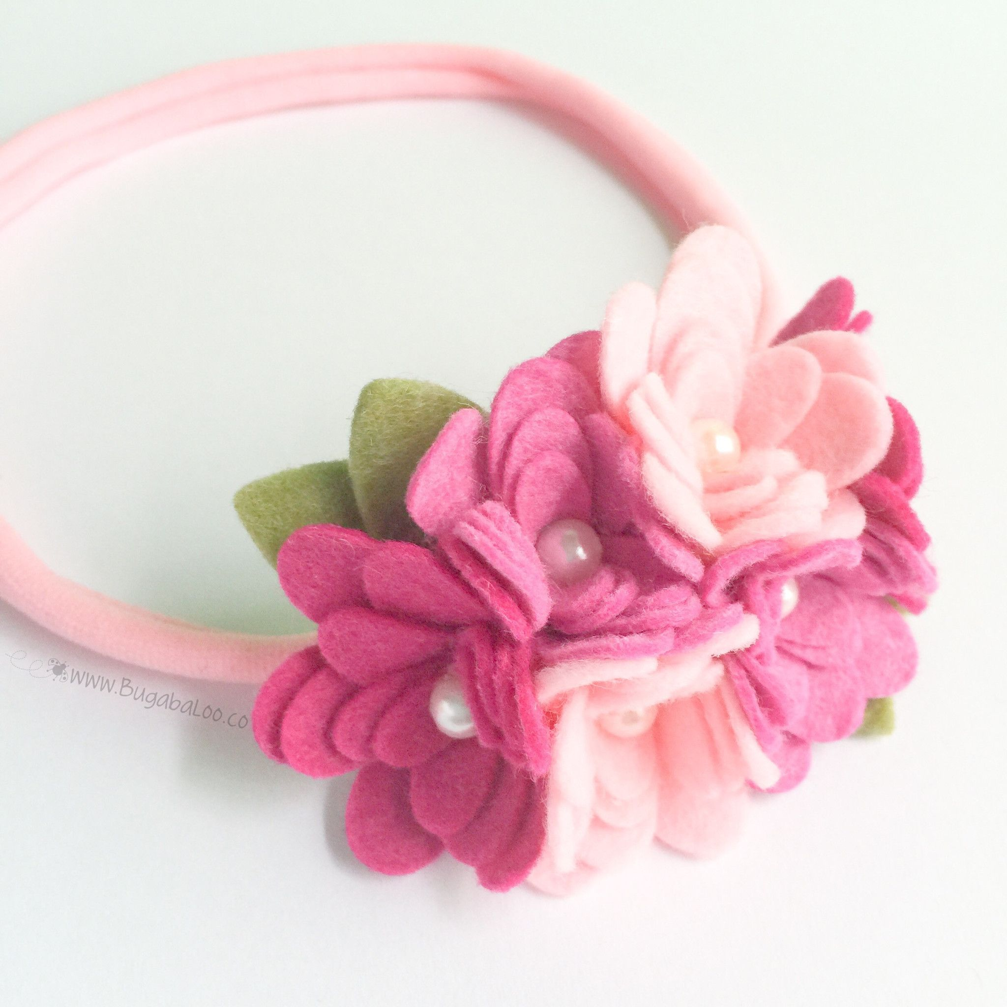 Felt flower headband pink cluster felt flower crown felt flowers felt flower headband pink cluster felt flower crown izmirmasajfo Gallery