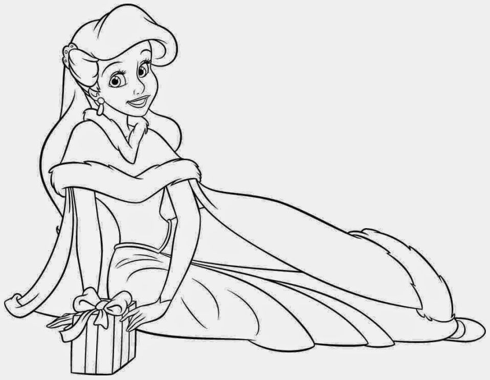 Christmas Princess Coloring Pages Ariel Coloring Pages Disney Princess Coloring Pages Princess Coloring Pages