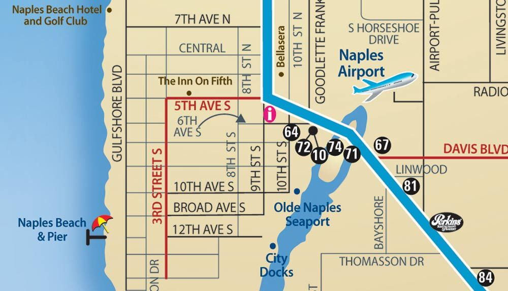downtown naples florida map interactive maps of south west