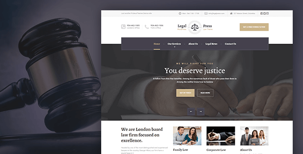 Legalpress Law Attorney Legal Html Template