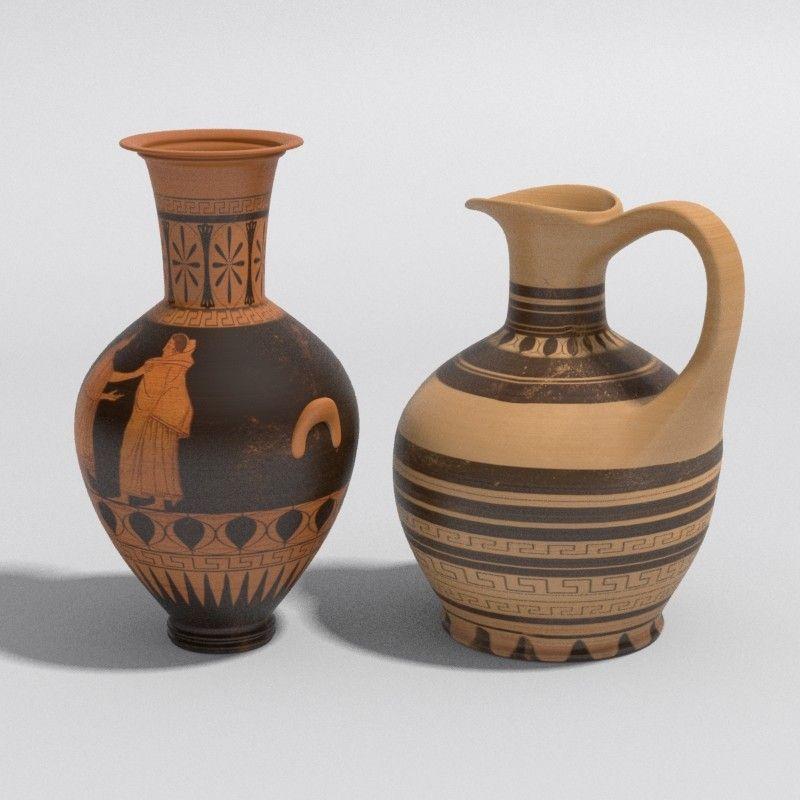 Ancient Vases Greek 3d Model Pinterest Greek