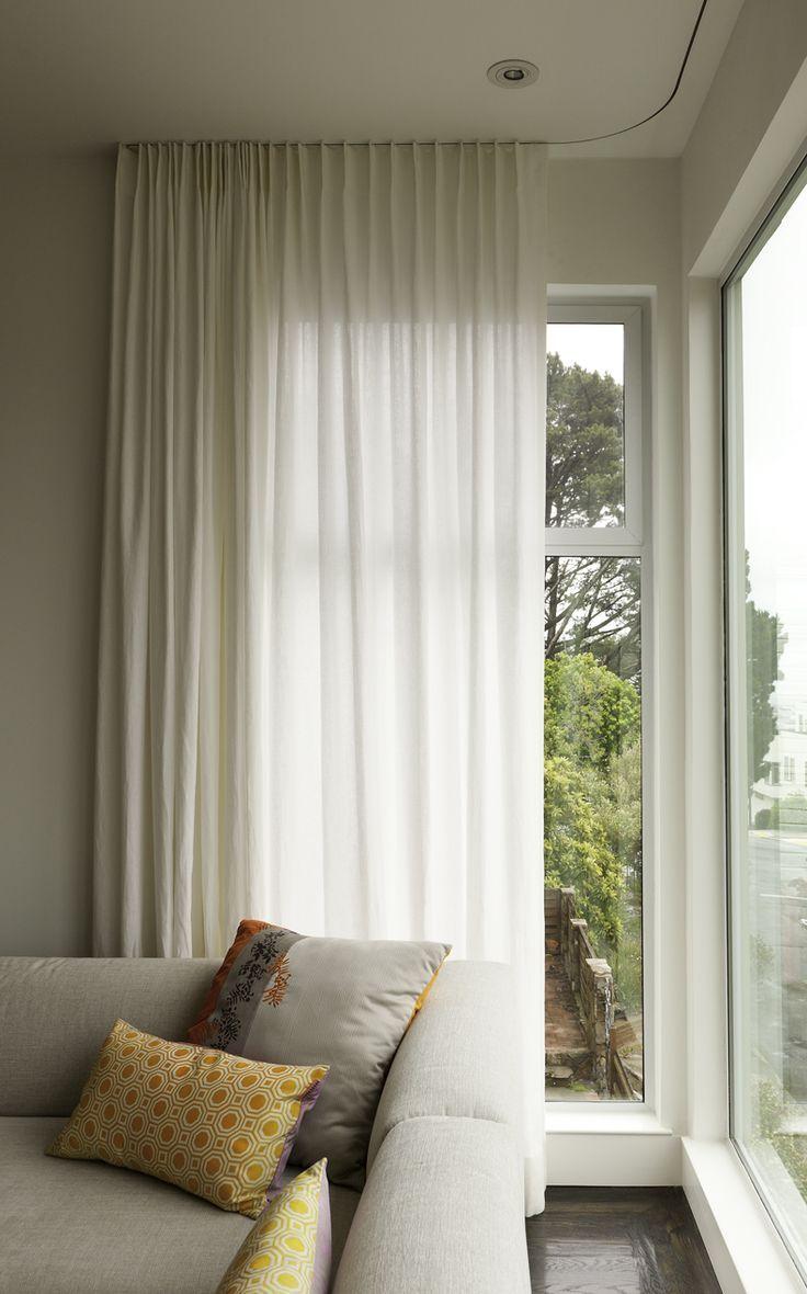 Recessed Curtain Tracks Curtains Pinterest Modern Window