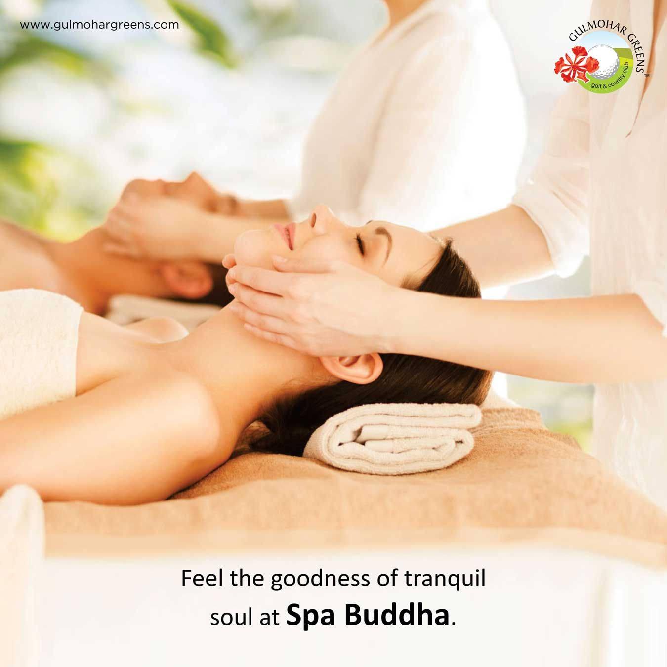 Release the stress in you in the most lavish way and give your soul utmost peace at Spa Buddha.  Visit: www.gulmohargreens.com/