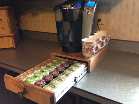 K Cup Holder Drawer Handcrafted Free Priority Shipping