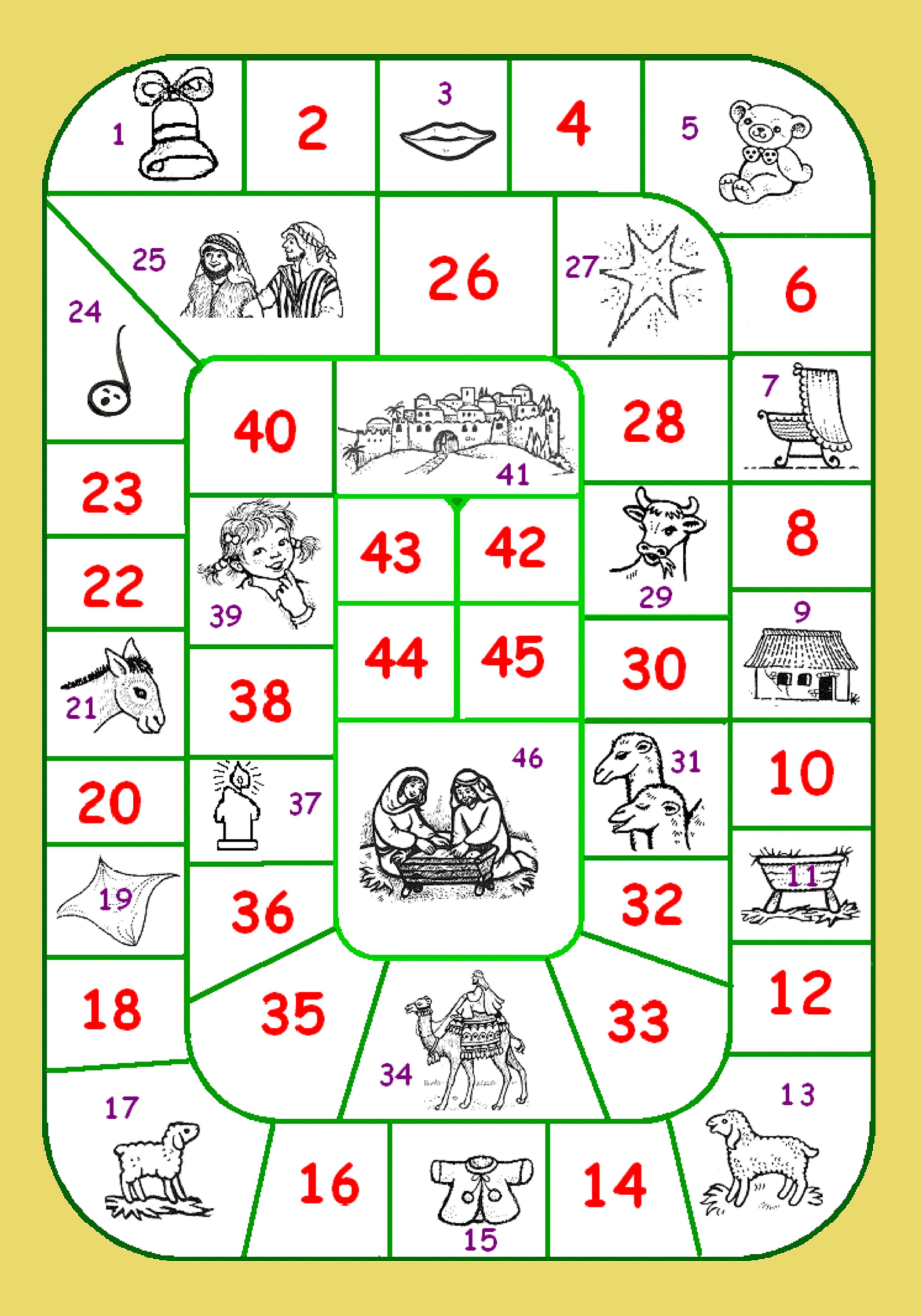 kerst ganzenbordspel - www.bijbelidee.nl | kerstknutselideeen ...