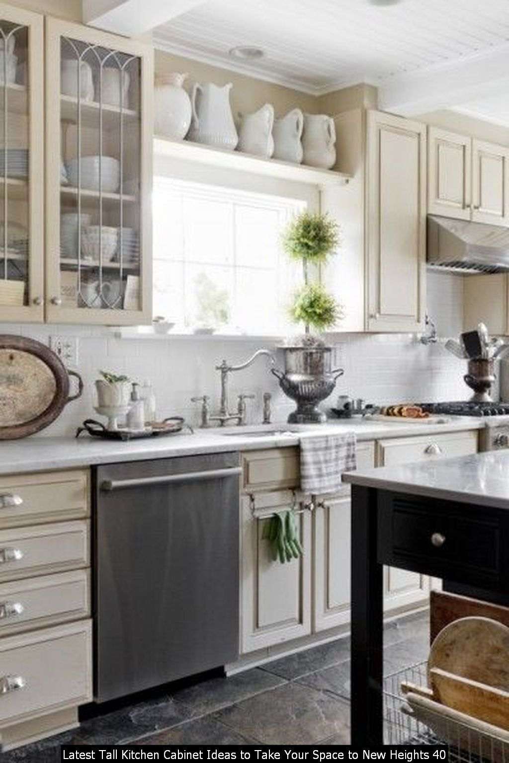 30 Latest Tall Kitchen Cabinet Ideas To Take Your Space To New Heights Kitchen Cabinet Design Tall Kitchen Cabinets Kitchen Decor