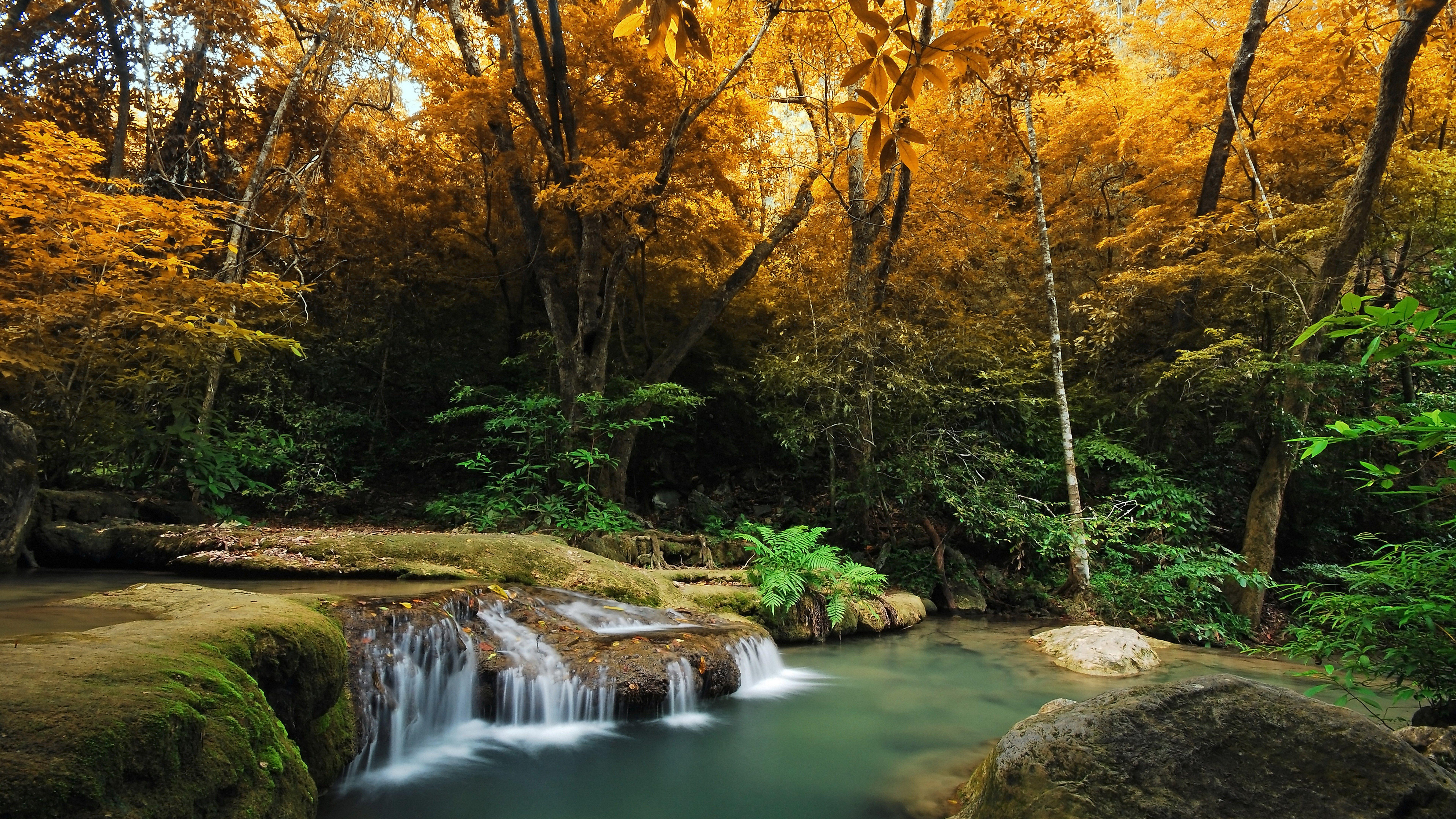 8k wallpaper nature inspired ololoshenka waterfall - Nature wallpaper 8k ...
