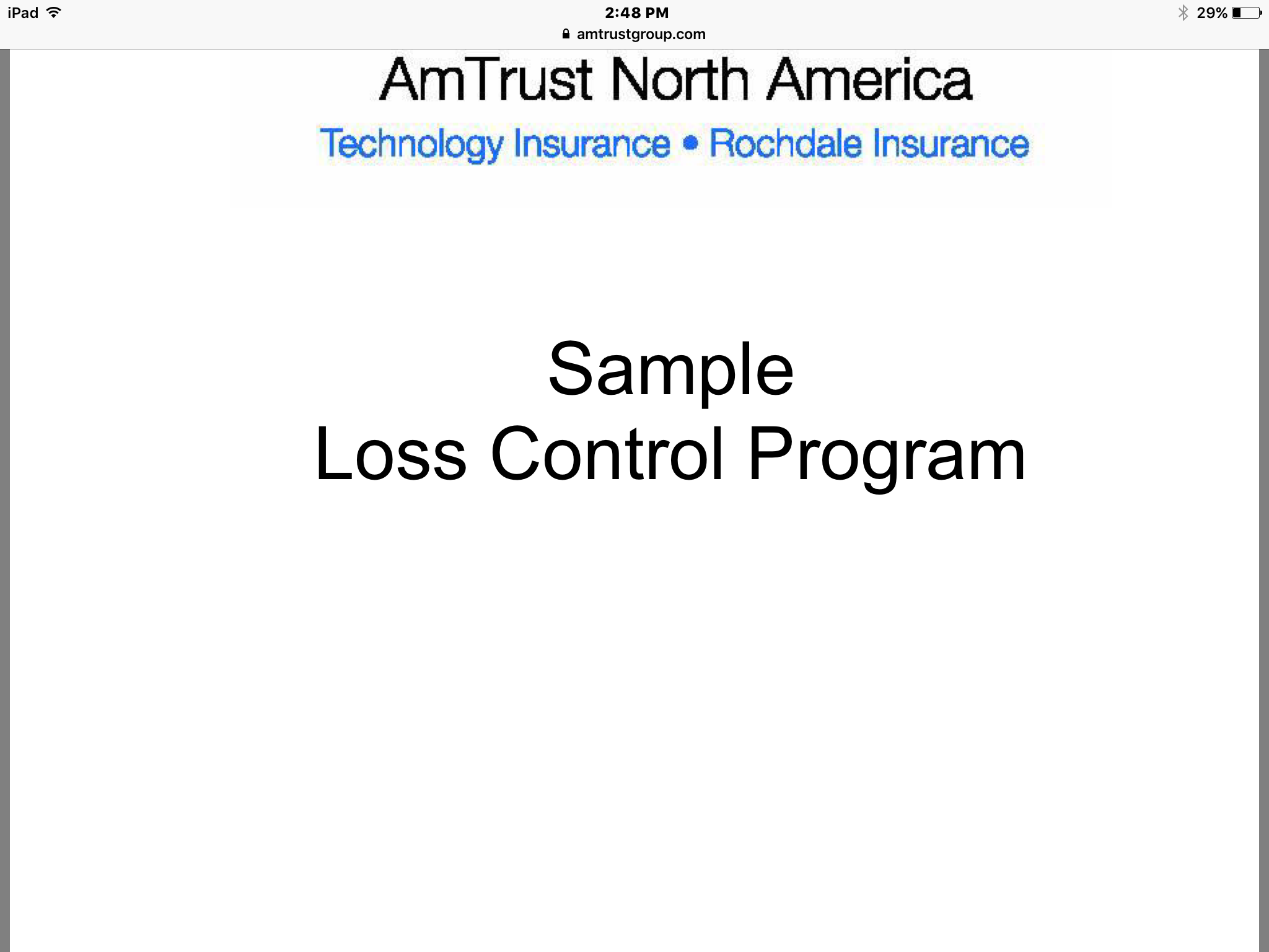 Develope and maintain loss control program pdf file