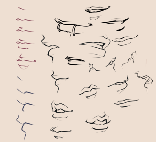 Imagen De Drawings Girl And Mouth Smile Drawing Anime Mouth Drawing Art Reference Poses