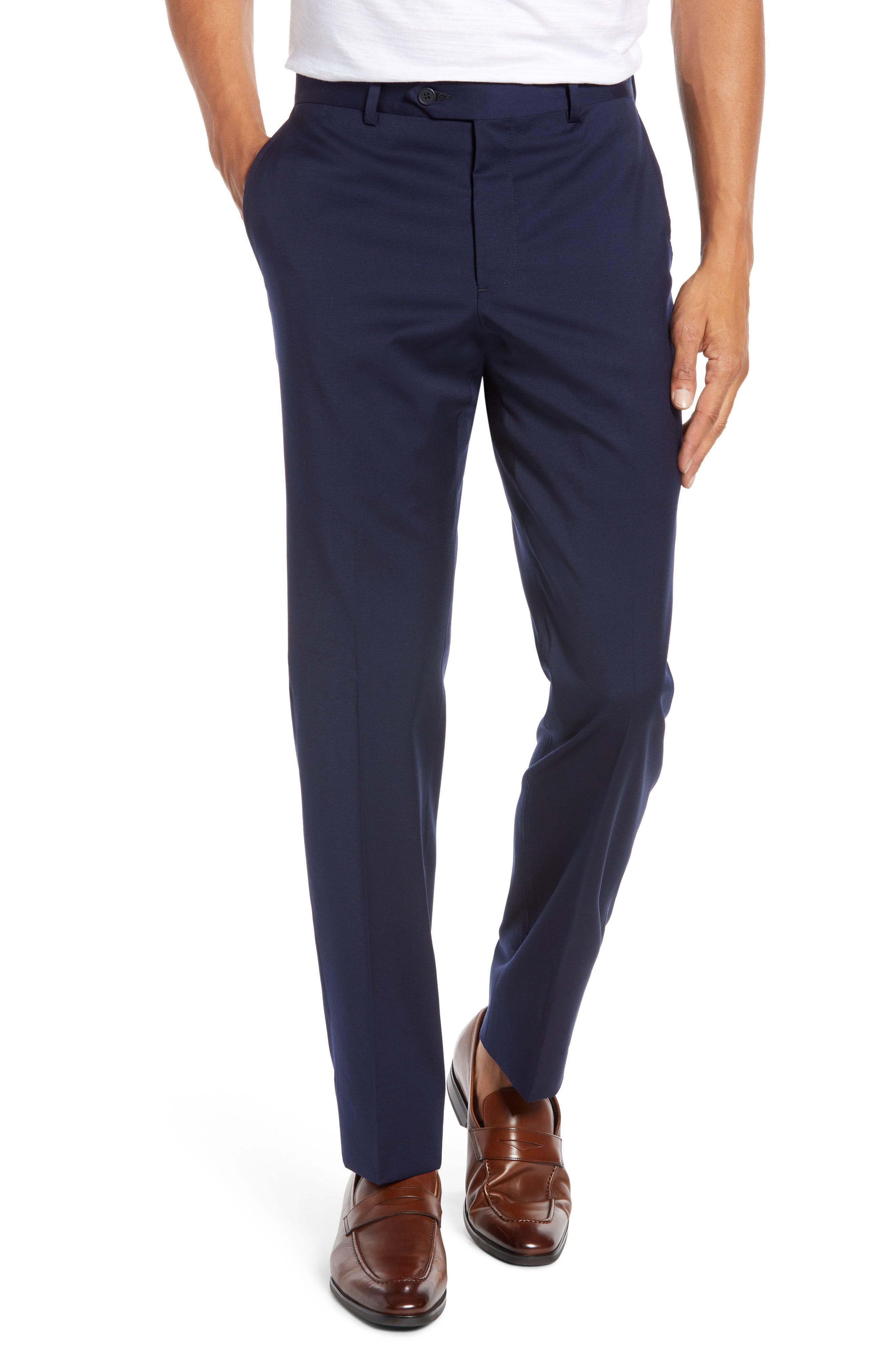 3679048deea3 Men's Nordstrom Men's Shop Trim Fit Stretch Wool Trousers, Size 38 x ...