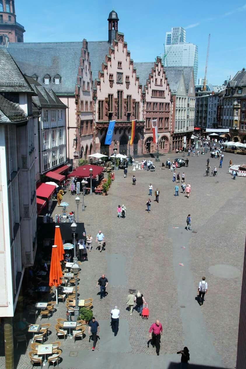 Frankfurt Der Roemer Von Oben Gesehen Deutschland Frankfurt Stadt