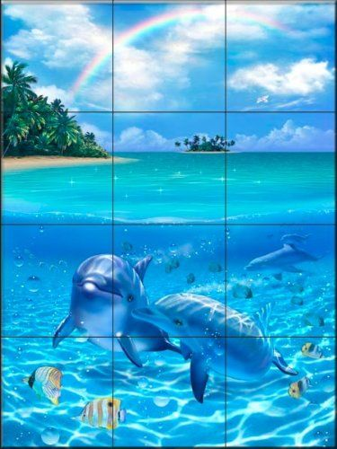 Dolphin Bathroom Tiles 3 Salt Water Fishing Dolphins Dolphin Images