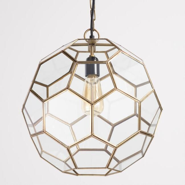 Faceted Glass Paxton Pendant $149.99 | Mud Room Hallway option - Faceted Glass Paxton Pendant $149.99 Mud Room Hallway Option