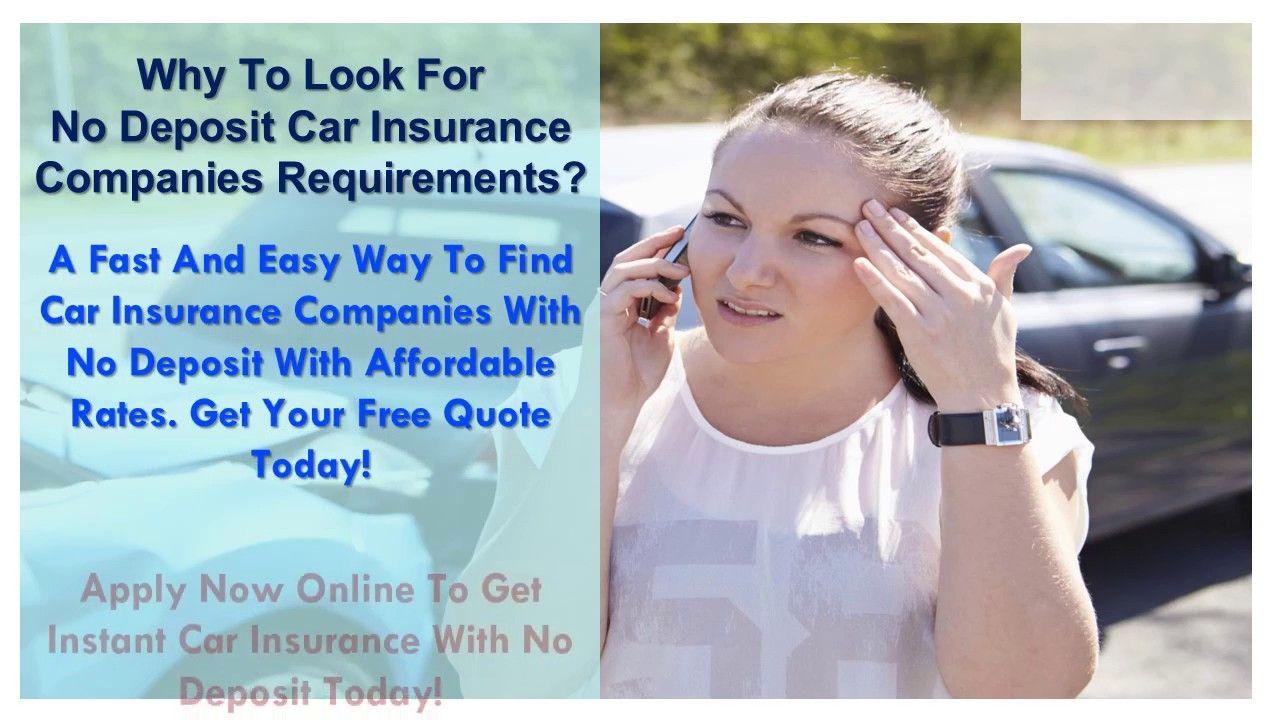 Compare no deposit auto insurance quotes get best car