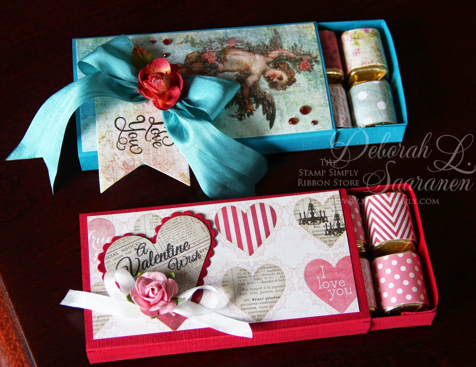 Tutorial for Hershey Nugget Valentine Slider Box | Küsse und Boxen