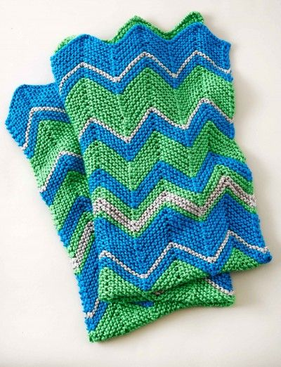 Zig Zag Knitted Blanket Pattern Gallery Knitting Embroidery