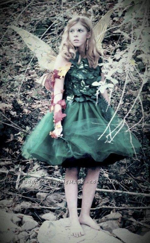 Charming Beautiful Tween Fairy Costume.