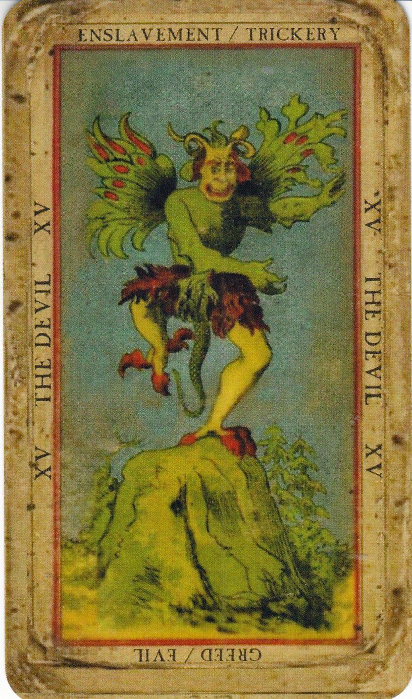 Book Of Thoth Etteilla Tarot -- The Devil