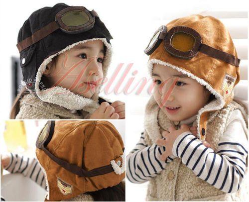 Winter Warm Cap Hat Baby Boys Girls Toddler Kids Pilot Earflap Soft and Warm Hat