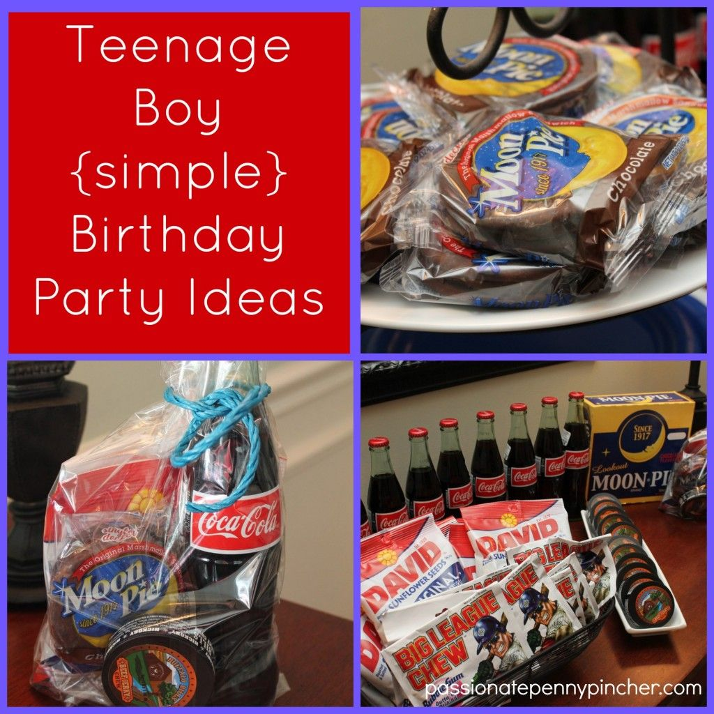 Teenage Boy Birthday Party Ideas