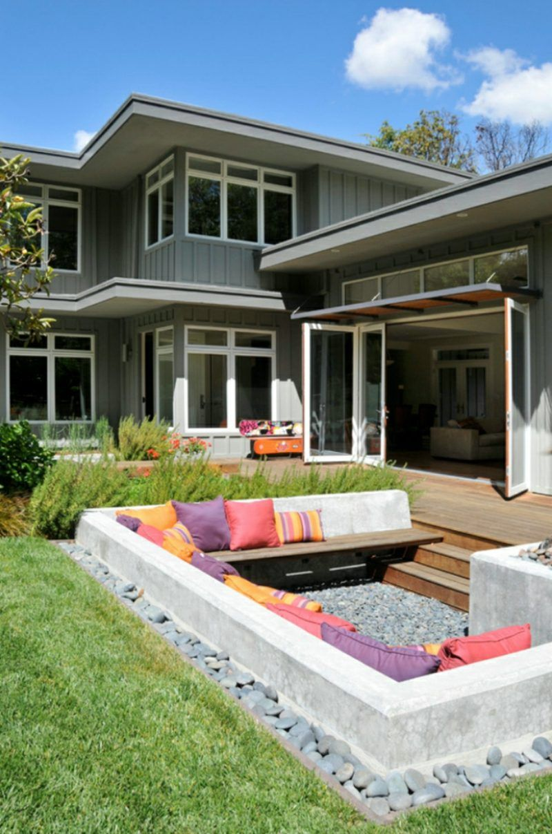 Attraktive Loungemobel Outdoor Outdoorliving Ideas Outdoorfireplace Backyard Sitting Areas Garden Seating Outdoor Living