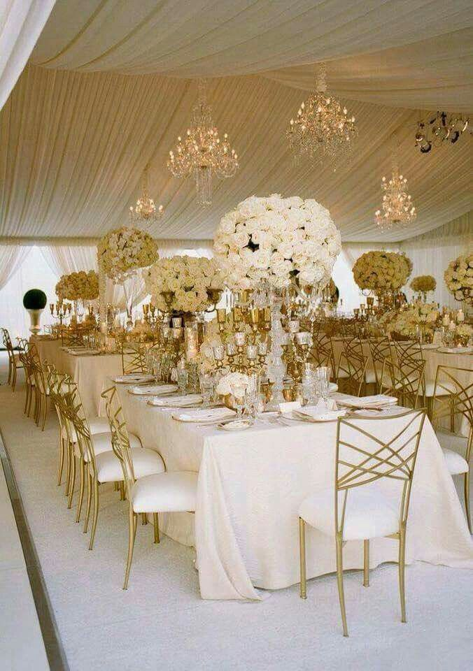 Ivory & gold beautiful Gold wedding theme Wedding
