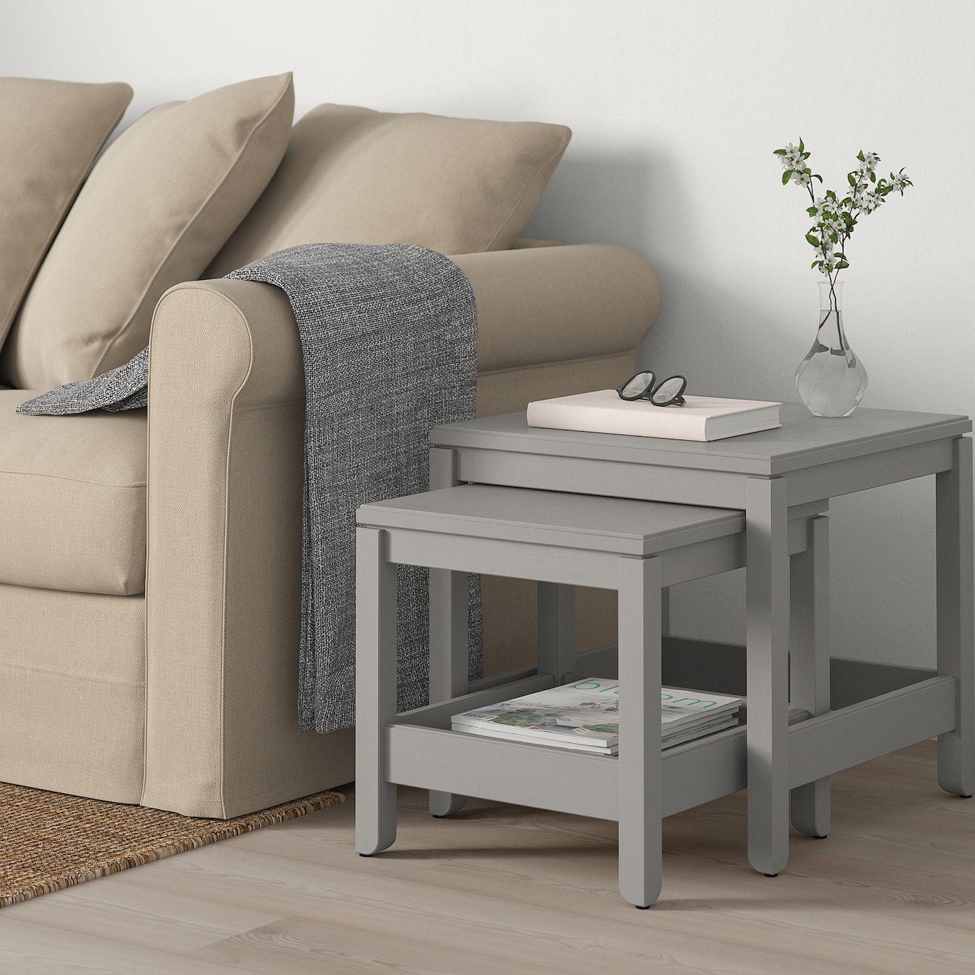 Havsta Satztische 2 St Grau Ikea Deutschland In 2020 Nesting Tables Nesting Tables Living Room Ikea #nesting #tables #living #room