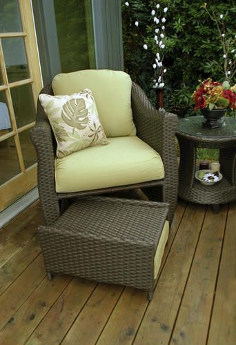 Patio Chair With Ottoman Marvelous Furniture On Swing