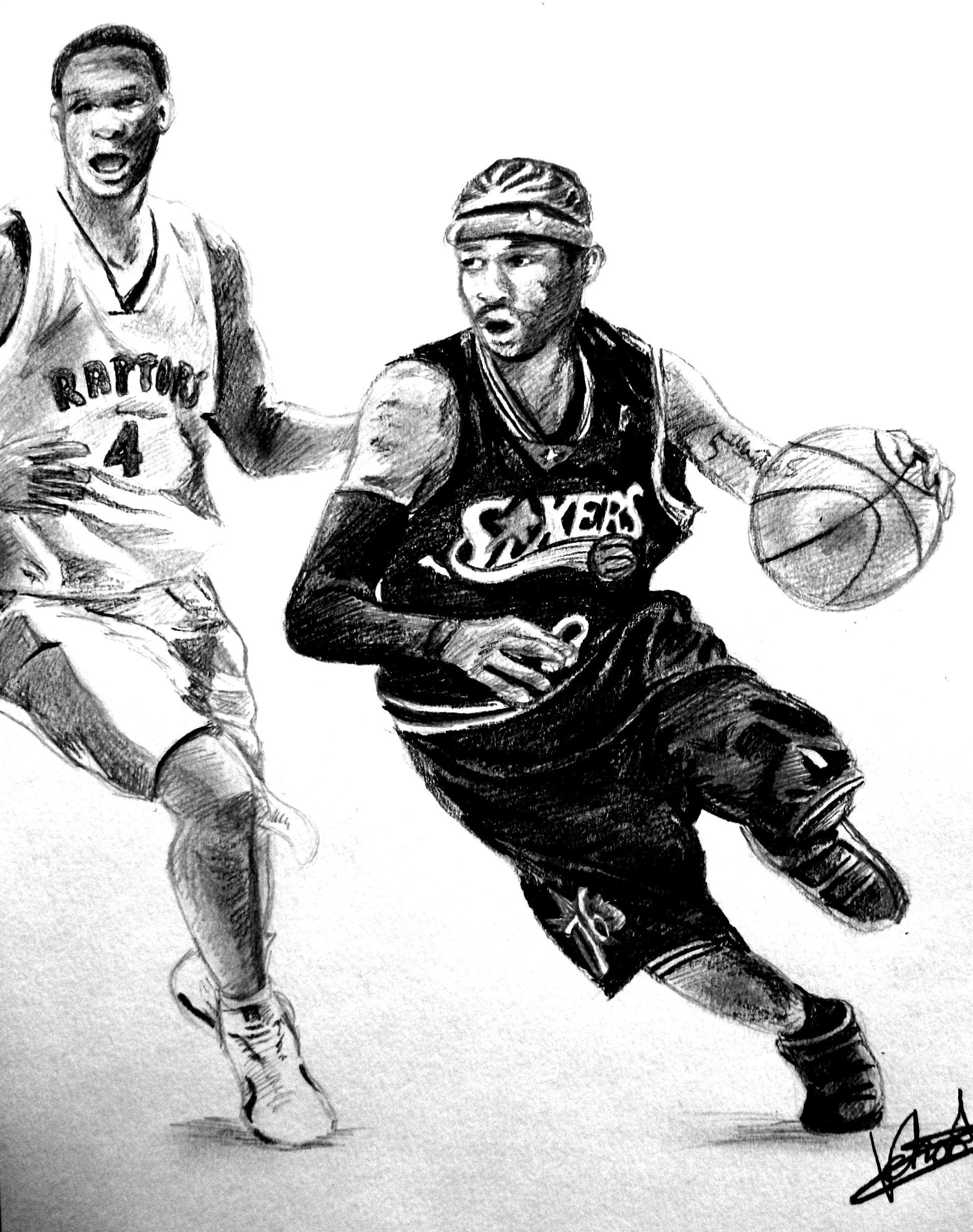 Basketball pencil drawing
