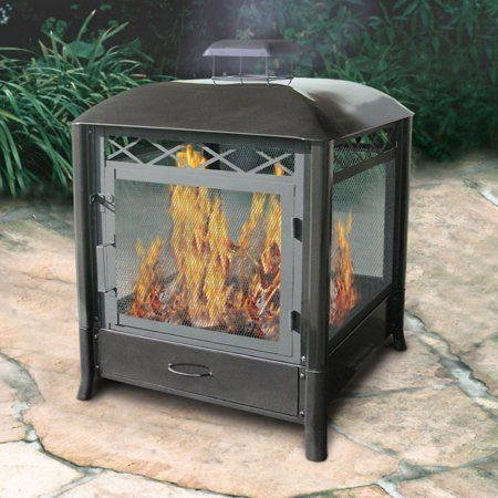 Patio Garden Outdoor Wood Burning Fireplace Iron Fire Pit
