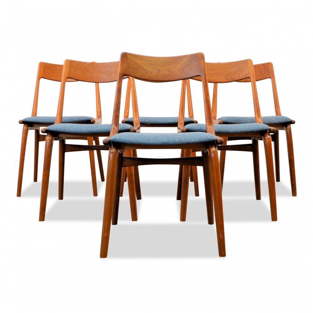 Superieur Alfred Christensen Teak U0027Boomerangu0027 Dining Chairs, ...