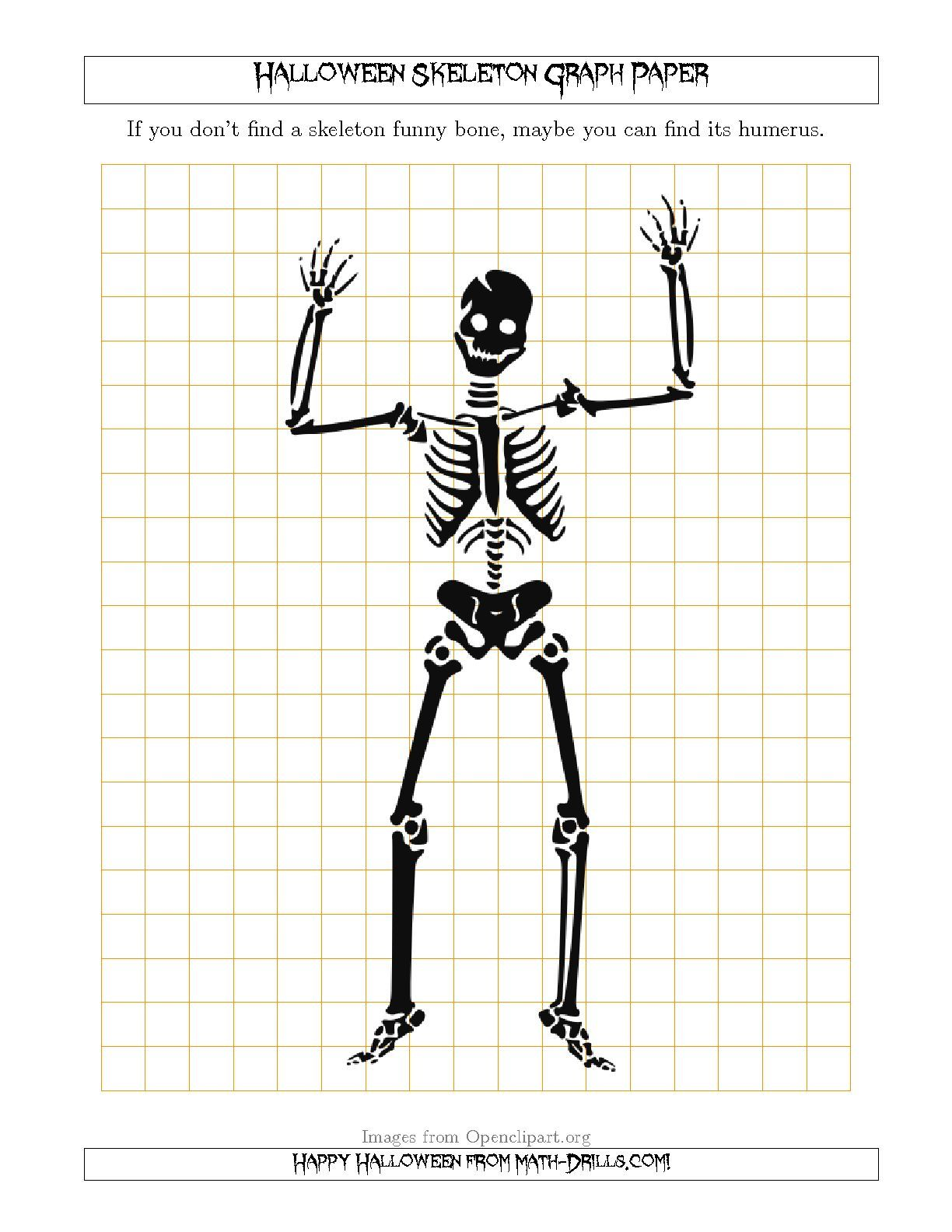 The Halloween Skeleton 1 Cm Graph Paper
