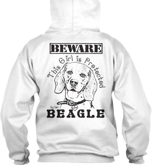 Protected By Beagle Hoodie Dogbreeds Adorables Pinterest