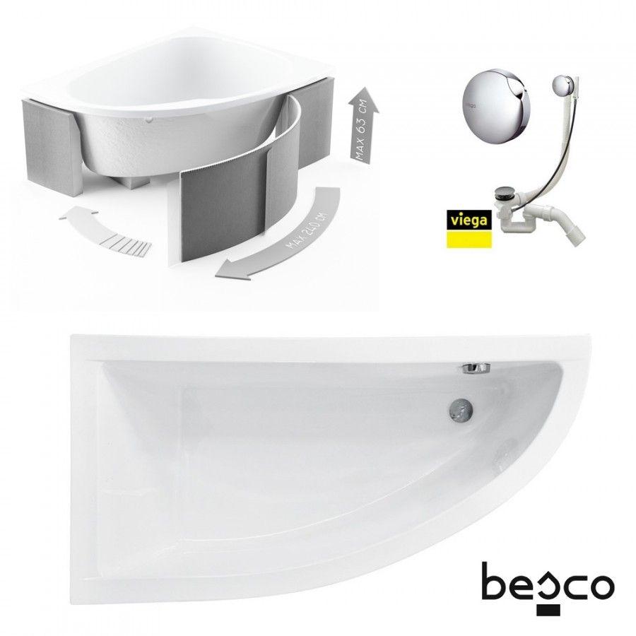Besco Praktika Eckbadewanne 140x70 Links Wannentrager Kopfstutze Viega Simplex Bad Sets Badewannen Bad Kuche In 2020 Badewanne Bad Set Eckbadewanne