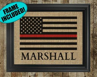 Thin Red Line Flag/ Firefighter Axe Sign/ by PalletsandPaint