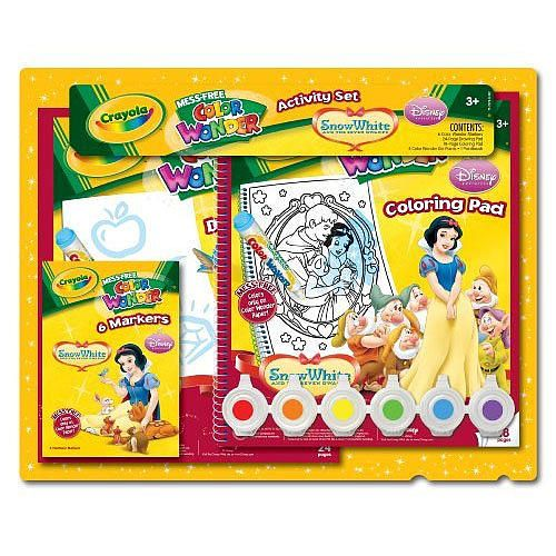 Crayola Mess-free Color Wonder Activity Set - Snow White - Crayola ...