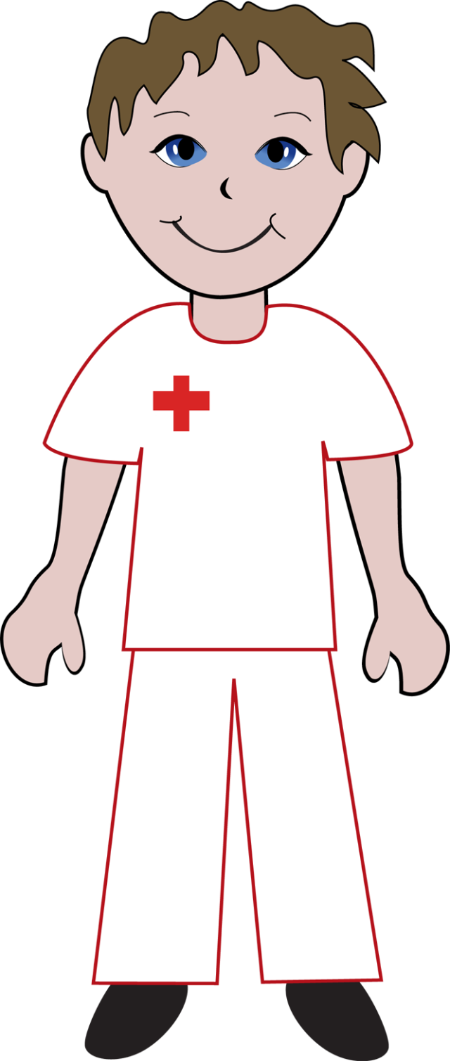 it s time to thank the nurses for caring for all clip art of a male nurse [ 640 x 1509 Pixel ]