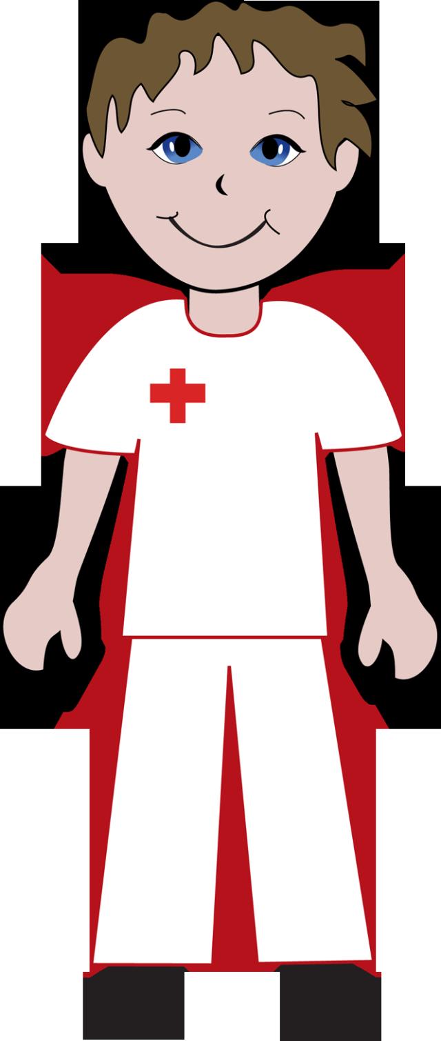 Black And White Male Nurse Clip Art For Kids