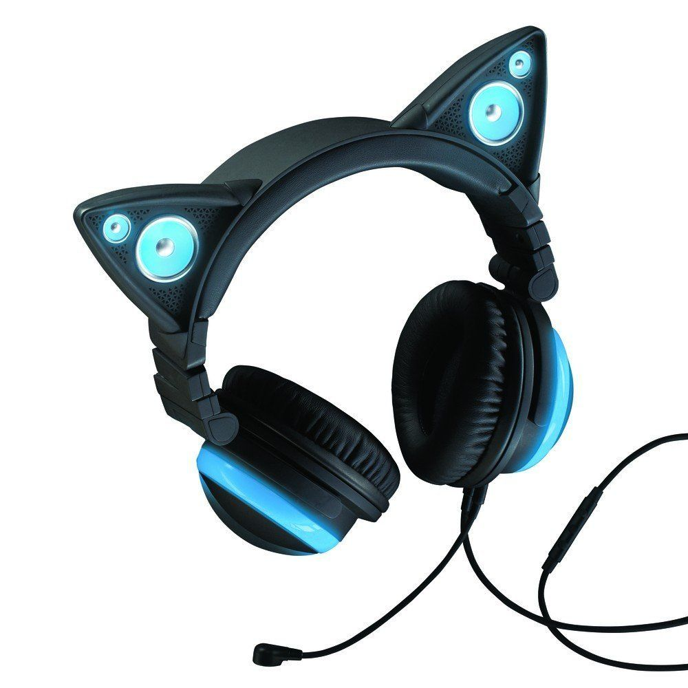 Wired Cat Ear Headphones Home Audio & Theater