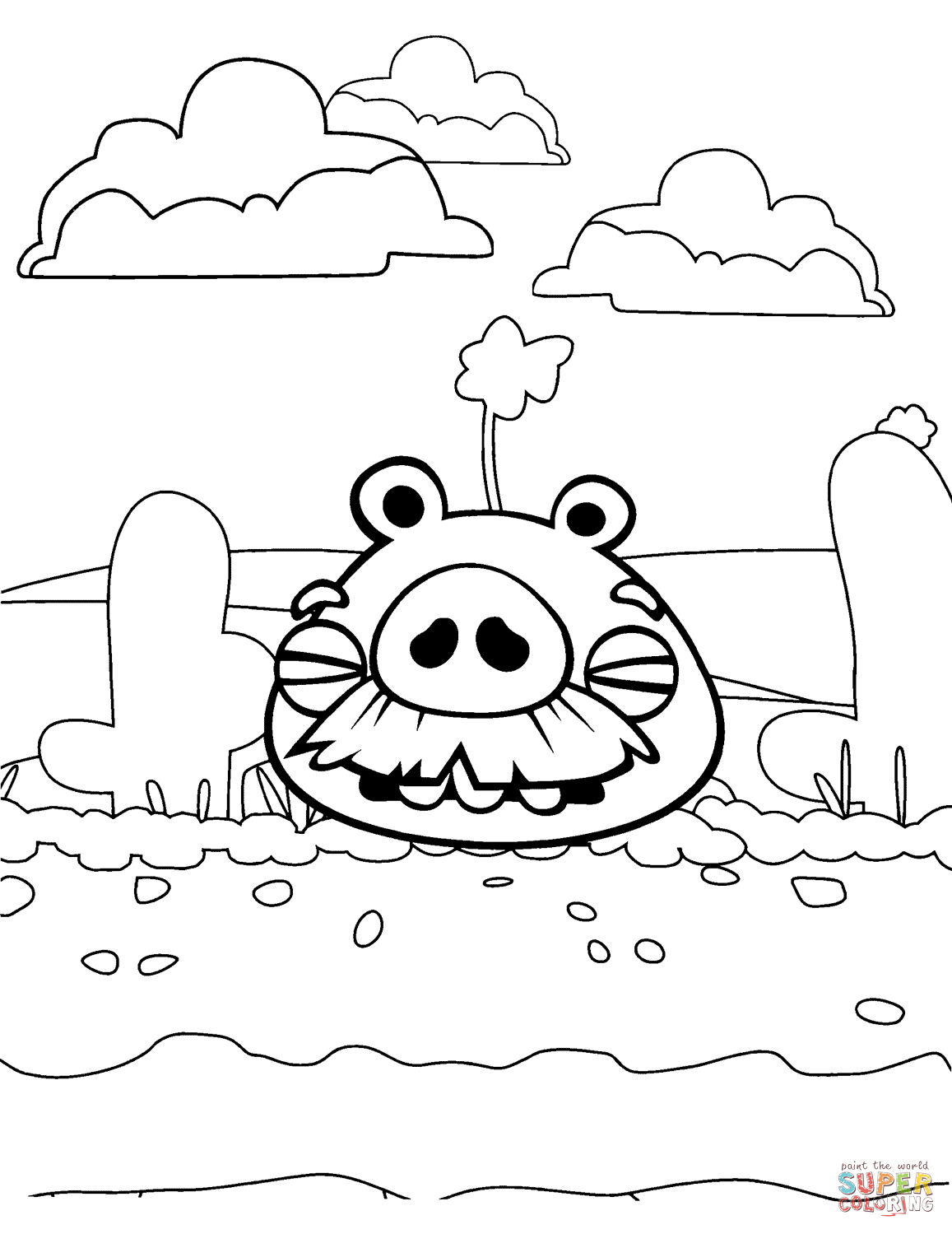 Bad Piggies Coloring Pages Online Bad Piggies Is A Puzzle Video Game Developed By Rovio Ente In 2020 Coloring Pages Bird Coloring Pages Free Printable Coloring Pages