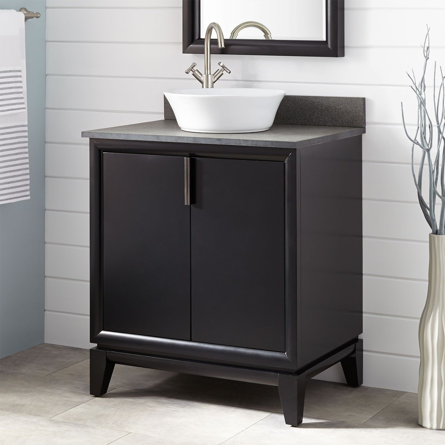 30 Talyn Mahogany Vessel Sink Vanity Black Bathroom Vanities