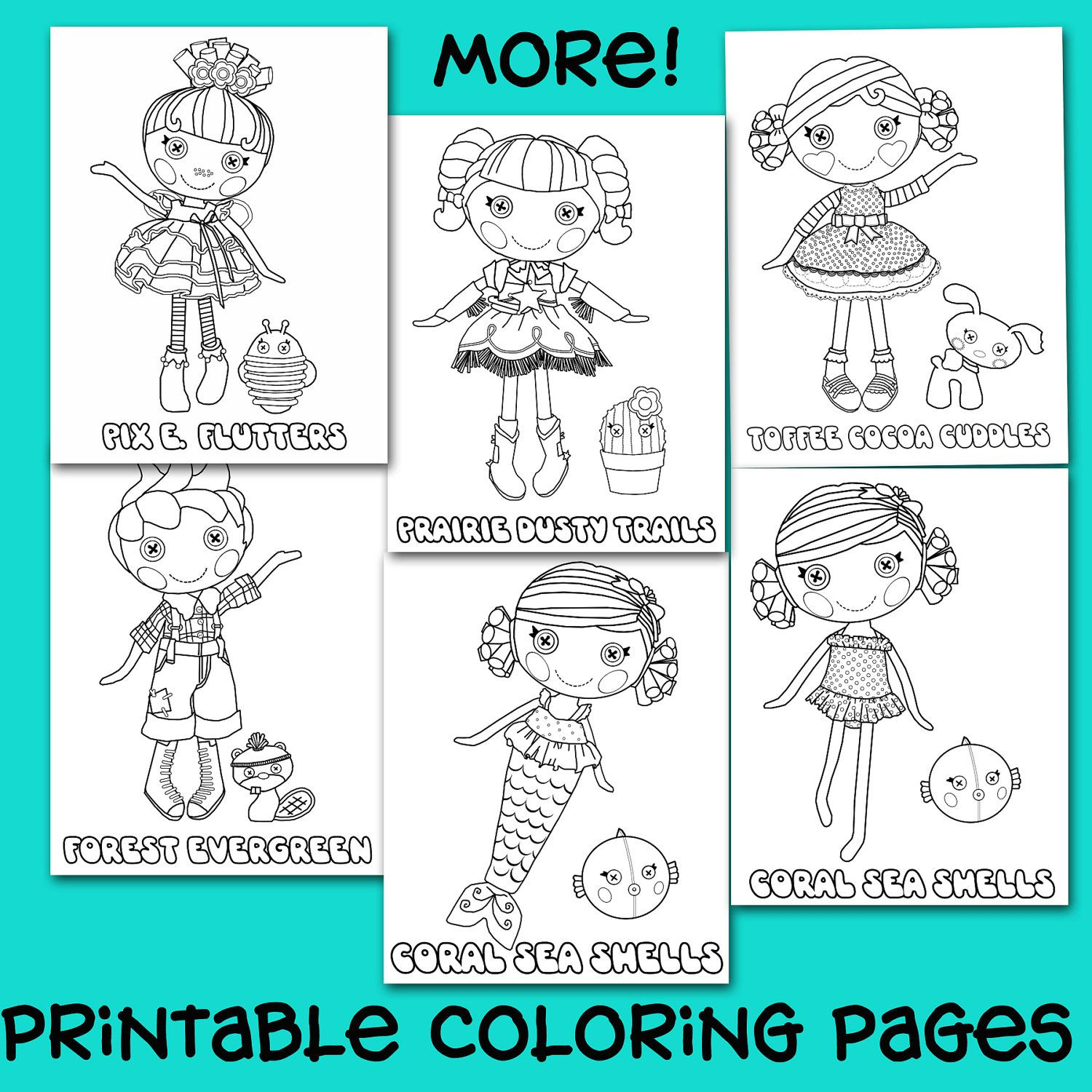 Free coloring pages lalaloopsy - 32 Printable Lalaloopsy Button Doll Coloring Pages