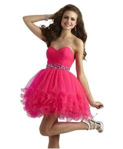 Layered tutu strapless short formal prom homecoming puffy dresses ...