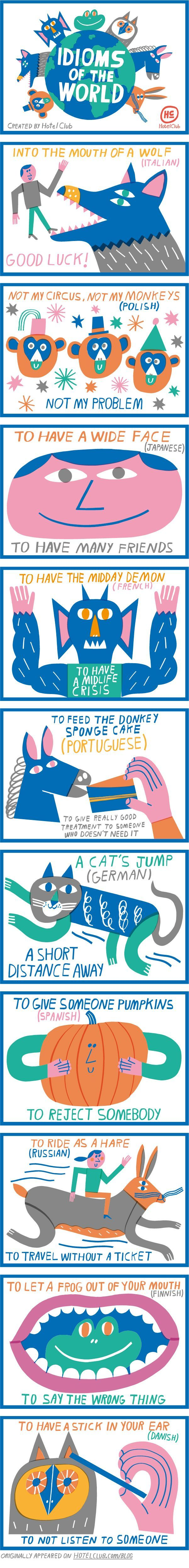 Idioms Of The World Infographic Idioms, Language